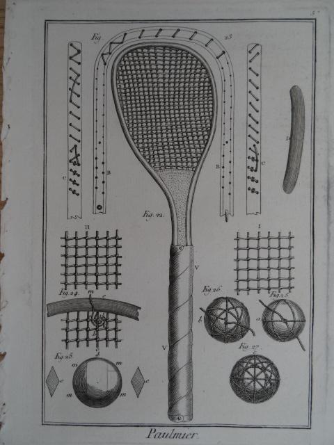 Paulmier. Kupferstichtafel aus der Encyclopédie von D.: Sport.-