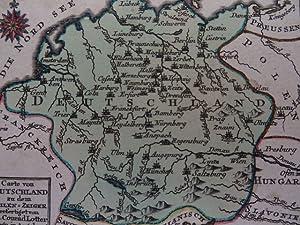 Carte von Deutschland zu dem Meilen-Zeiger. Kolor.: Deutschland.-