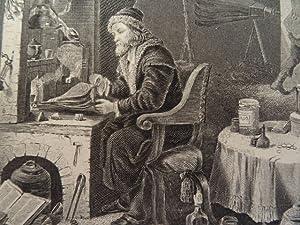 Der Chemiker. Stahlstich von W. French nach David Teniers bei Payne. Leipzig, um 1850. 13 x 16,5 cm...
