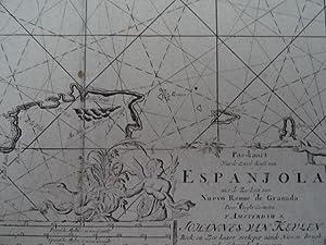 Pas-kaart van de zuyd-Kust van Espanjola met: Seekarte.-