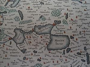 Meklenburg ducatus. Altkolor. Kupferstichkarte von Janssonius. Amsterdam,: Mecklenburg.-