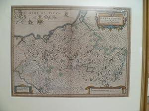Meklenburg Ducatus. Kolor. Kupferstich von J. Laurenberg: Mecklenburg.-