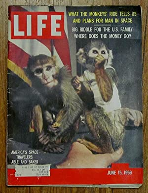 Life Magazine: 1959 06/15: June 15, 1959 Space Program Chimps