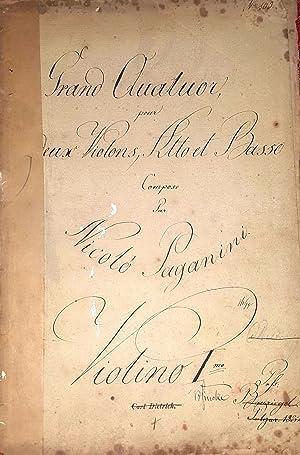 Grand Quatuor Pour Deux Violons, Alto et: Paganini, Nicolò. (1782-1840)