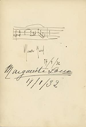 Boléro - Autograph Musical Quotation