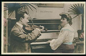 La Musique Enchanteresse - Series of Five French Postcards