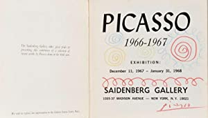 Picasso 1966-1967 - EXHIBITION CATALOGUE INSCRIBED WITH: Picasso, Pablo. (1881