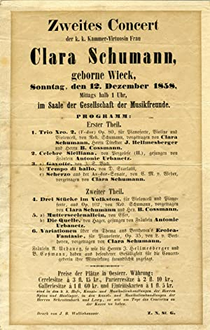 Original Broadside for her 1858 Vienna Performance