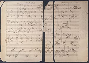 Piano Trio no. 1 - Autograph Musical Manuscript Fragment