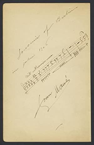 Amusing Autograph Musical Quotation