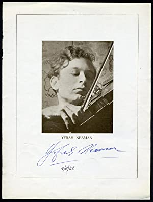 Signed Program Photograph