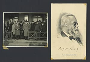 Signed Postcard Portrait with Original Photograph