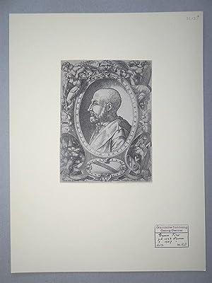Original Portrait Engraving: Moresini, Cipriano. (1550-1552 fl.)] Vico, Enea. (1523-1567)