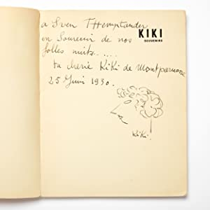 Kiki Souvenirs - Signed and Inscribed with Self-Portrait Drawing