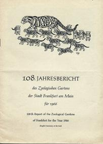 108. Jahresbericht (1966): Zoo Frankfurt