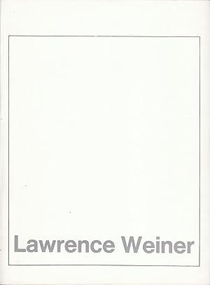 Westfälischer Kunstverein. Jahresausgabe 1972.: Weiner, Lawrence;