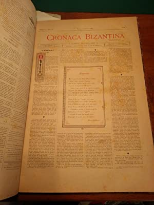 CRONACA BIZANTINA - ANNO III (1883) ( da n°1 a n° 6 e n°10, ANNO IV (1884) COMPLETO (24...