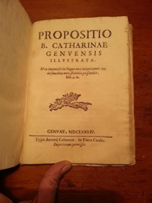 B. CATERINA DI GENOVA FIESCA NEGL'ADORNI ILLUSTRATA DEL P. GIACINTO PARPERA DELLA CONGREGAZIONE...