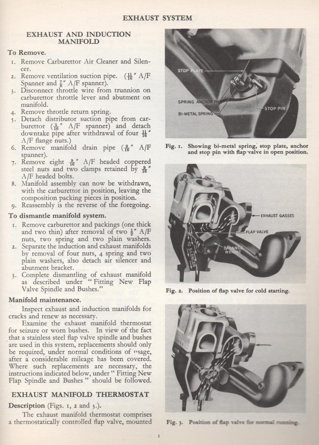 Standard Vanguard Service Instruction Manual