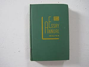 1933 Essay Annual : A Yearly Collection of Significant Essays, Personal, Critical, Controversial ...