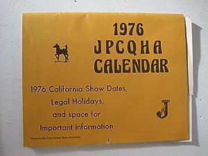 1976 JPCQHA Calendar. [horses]