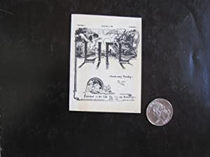 Life. Vol.1, no.1. January 4, 1883. [Issued Every Thursday, Ten Cents a Copy]