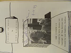 Poetry or Bust-SIGNED BY THE AUTHOR: Harrison, Tony