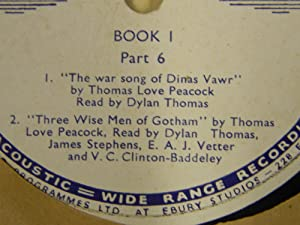 The War Song of Dinas Vawr & Three Wise Men of Gotham: Thomas, Dylan (reads)
