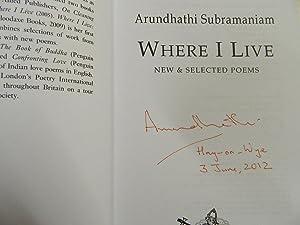Where I Live-SIGNED AND DATED: Subramaniam, Arundhathi