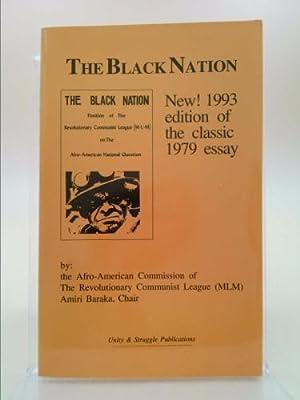 The Black Nation: Position of The Revolutionary: Baraka, Amiri &