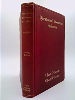 Questioned document problems,: The discovery and proof: Osborn, Albert Sherman
