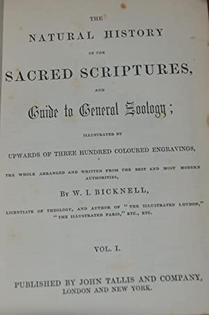 THE NATURAL HISTORY OF THE SACRED SCRIPTURES, and guide to general zoology; illustrated by upward...