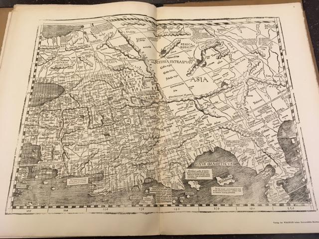 Oldest Map Of America.The Oldest Map With The Name America Of The Year 1507 And The Carta