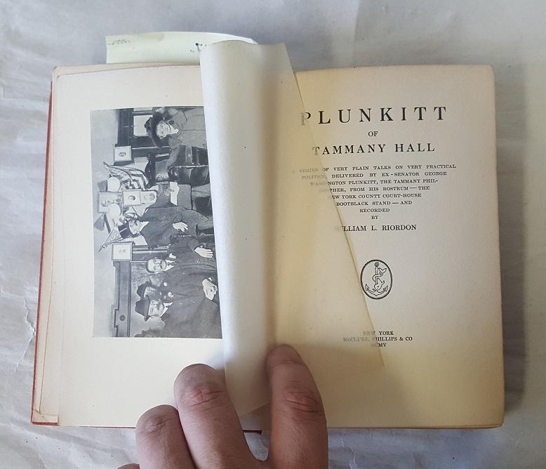 plunkitt of tammany hall book