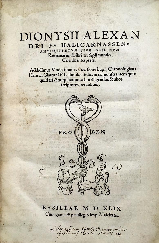 Books by Dionysius of Halicarnassus