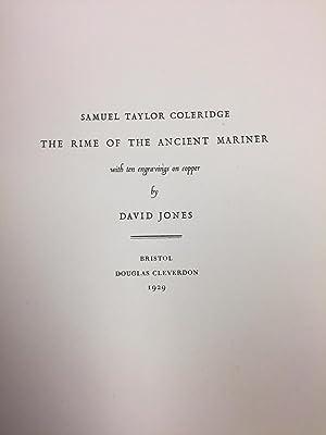 THE RIME OF THE ANCIENT MARINER: Coleridge, Samuel Taylor; Jones, David (illustrator)