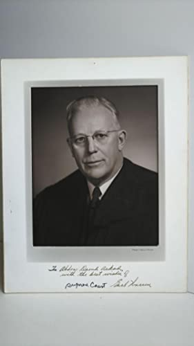 PHOTOGRAPH OF EARL WARREN INSCRIBED TO PHOTOGRAPHER