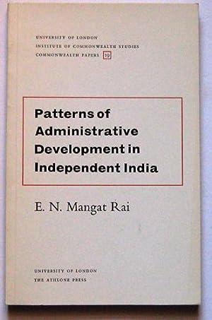 Commonwealth Papers No.19: Patterns of Administrative Development: Rai, EN Mangat