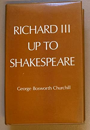 Richard III Up to Shakespeare