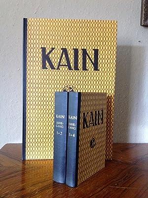 Kain Zeitschrift für Menschlichkeit, 1.-5. Jahrgang. Nachdruck: Mühsam Erich (Hrsg.),