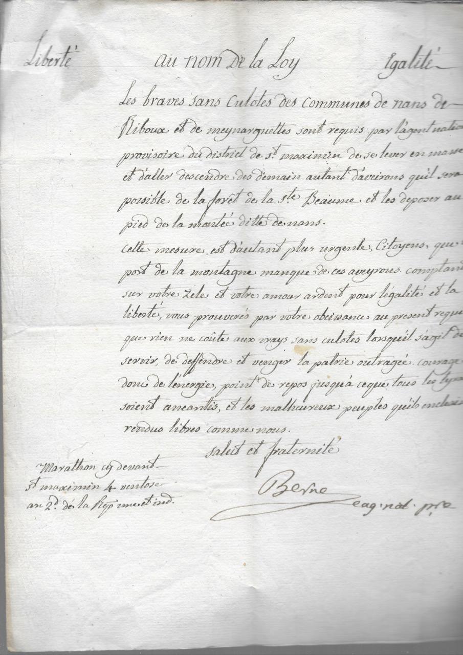 Authentique_document_historique_concernant_le_Var_sous_la_Révolution_La_commune_de_MEINARGUETTES_a_été_rattachée_à_celle_de_MAZAUGUES_en_1839_Révol
