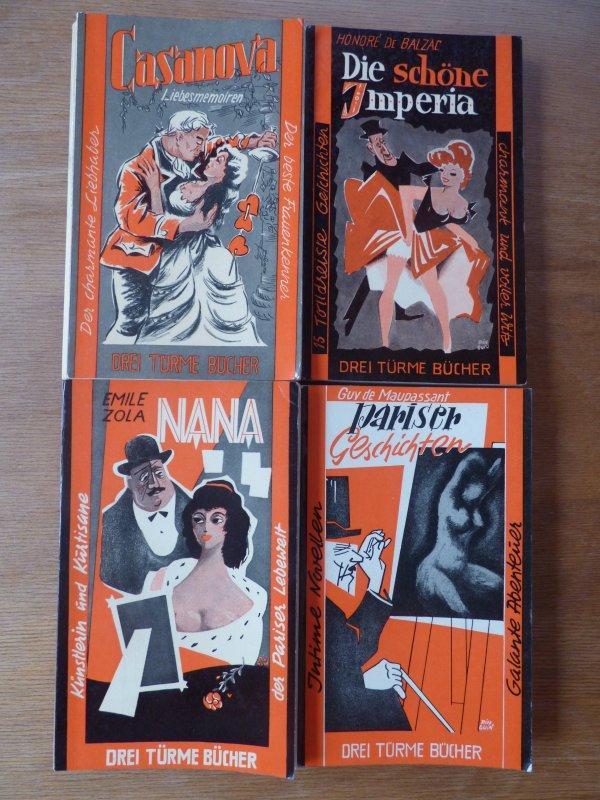 """4 """"Drei Türme Bücher"""": 1. Casanova -: Giacaomo Casanova -"""