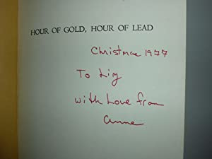 Hour of Gold, Hour of Lead: Diaries and Letters of Anne Morrow Lindbergh, 1929-1932: Lindbergh, ...