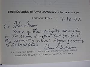 Disarmament Sketches: Three Decades of Arms Control and International Law: Graham, Thomas