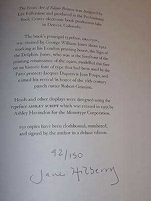 The Erotic Art of Edgar Britton (The Documents of Colorado Art): Hilberry, Jane; Britton, Edgar