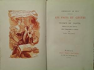 Les Faits et Gestes Du Vicomte De Nantel: Crébillon Le Fils