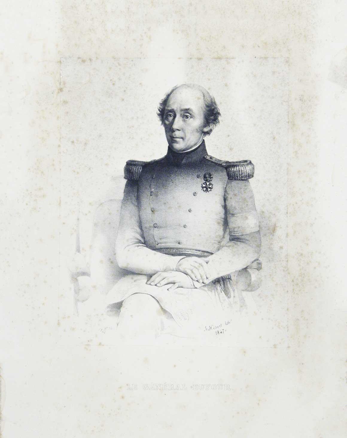 Le général Dufour.: DUFOUR, Guillaume-Henri (1787-1875).