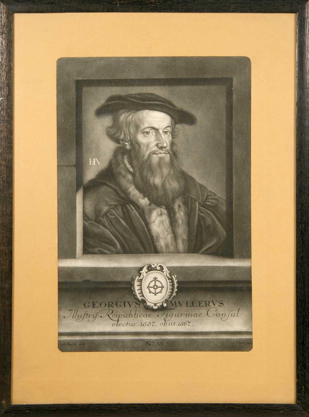 Georgius Mullerus. Reipublicae Tigurinae Consul A° 1557-1567: Walch, S. portraits