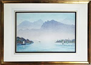 Lake of Lucerne. Original watercolour.: MEDLYCOTT, Hubert James (1841-1920)