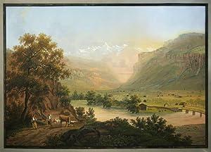 Das Meiringer Thal im Canton Bern. Aquarell: BLEULER, Johann Heinrich.